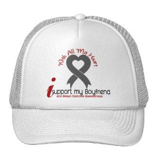 Brain Cancer I Support My Boyfriend Mesh Hat