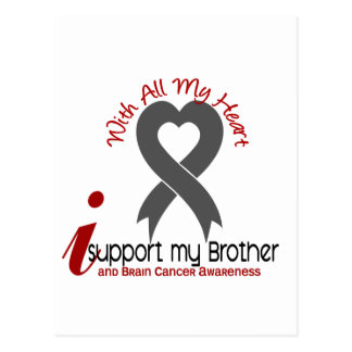 Brain Cancer I Support My Brother Postcard