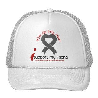 Brain Cancer I Support My Friend Trucker Hat