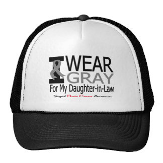 Brain Cancer I Wear Gray Ribbon Daughter-in-Law Hat
