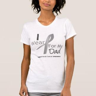 Brain Cancer I Wear Gray Ribbon For My Dad Tshirt