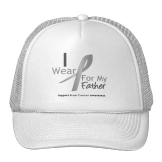 Brain Cancer I Wear Gray Ribbon For My Father Cap