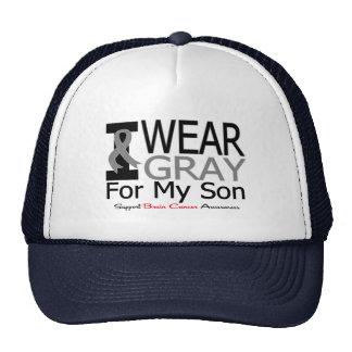 Brain Cancer I Wear Gray Ribbon For My Son Mesh Hat