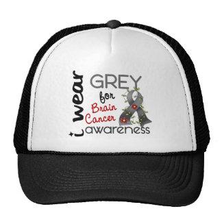 Brain Cancer I Wear Grey For Awareness 43 Trucker Hats