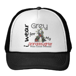 Brain Cancer I Wear Grey For My Granddaughter 43 Cap