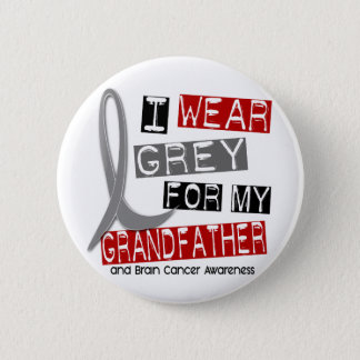 BRAIN CANCER I Wear Grey For My Grandfather 37 6 Cm Round Badge