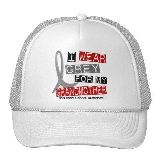 BRAIN CANCER I Wear Grey For My Grandmother 37 Mesh Hat