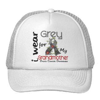 Brain Cancer I Wear Grey For My Grandmother 43 Trucker Hat