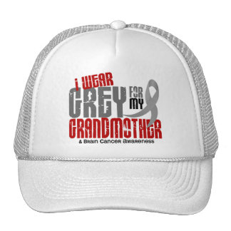 Brain Cancer I Wear Grey For My Grandmother 6.2 Trucker Hat