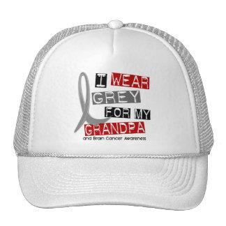 BRAIN CANCER I Wear Grey For My Grandpa 37 Trucker Hat