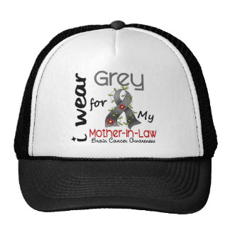 Brain Cancer I Wear Grey For My Mother-In-Law 43 Cap