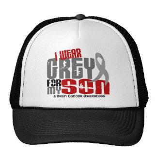 Brain Cancer I Wear Grey For My Son 6.2 Trucker Hat