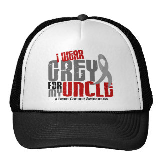 Brain Cancer I Wear Grey For My Uncle 6.2 Trucker Hat