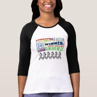 Brain Cancer Inspirational Words Tee Shirt