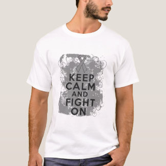 Brain Cancer Keep Calm and Fight On T-Shirt