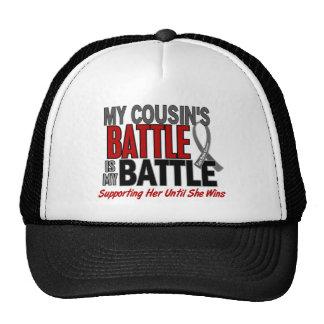 Brain Cancer MY BATTLE TOO 1 Cousin (Female) Cap