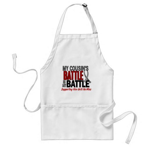 Brain Cancer MY BATTLE TOO 1 Cousin (Male) Apron