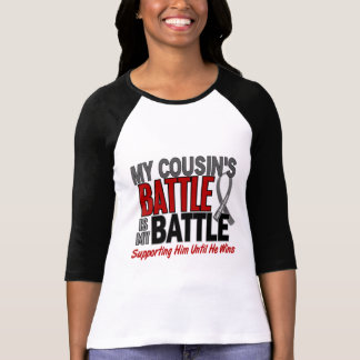 Brain Cancer MY BATTLE TOO 1 Cousin (Male) Tshirt