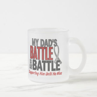 Brain Cancer MY BATTLE TOO 1 Dad Mug