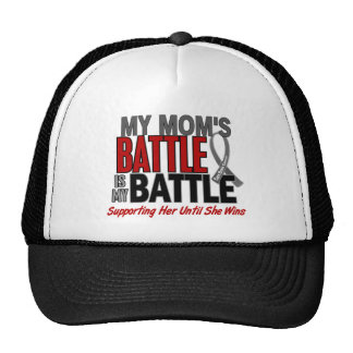 Brain Cancer MY BATTLE TOO 1 Mom Trucker Hats
