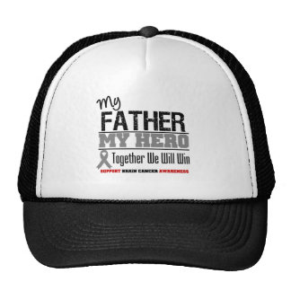 Brain Cancer My Father MY HERO Hats