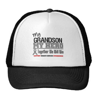 Brain Cancer My Grandson Hero Together We Will Win Mesh Hat