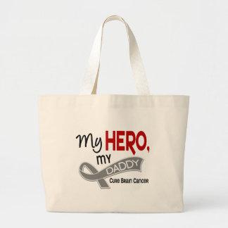 Brain Cancer MY HERO MY DADDY 42 Jumbo Tote Bag