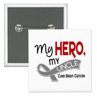 Brain Cancer MY HERO MY UNCLE 42 15 Cm Square Badge