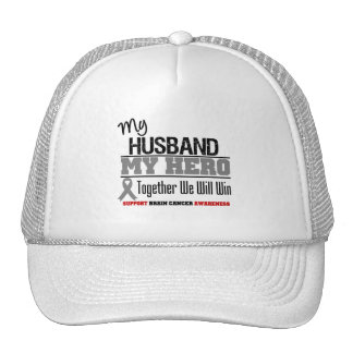 Brain Cancer My Husband Hero Together We Will Win Trucker Hats