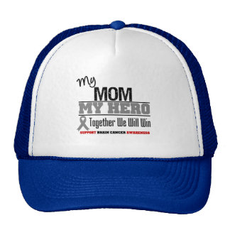 Brain Cancer My Mom My Hero Together We Will Win Mesh Hat