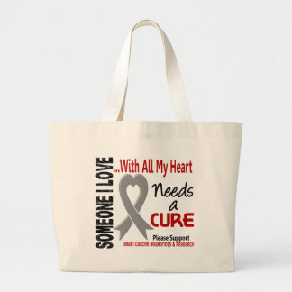Brain Cancer Needs A Cure 3 Large Tote Bag