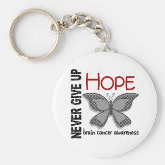 Brain Cancer Never Give Up Hope Butterfly 4.1 Key Chain