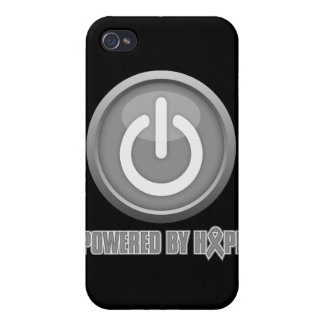 Brain Cancer Powered by Hope iPhone 4 Covers