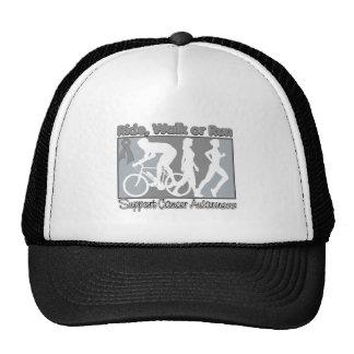 Brain Cancer Ride Walk Run Trucker Hats
