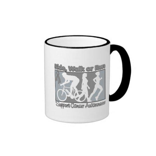Brain Cancer Ride Walk Run Coffee Mugs