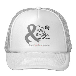 BRAIN CANCER SUPPORT For My Daughter-in-Law Trucker Hats