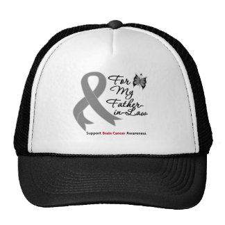 BRAIN CANCER SUPPORT For My Father-in-Law Hat