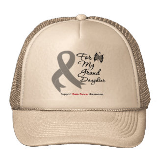 BRAIN CANCER SUPPORT For My Granddaughter Mesh Hat