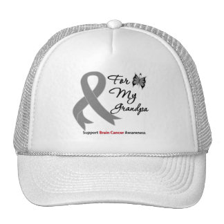 BRAIN CANCER SUPPORT For My Grandpa Mesh Hat