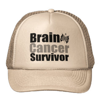Brain Cancer Survivor Butterfly Ribbon Cap