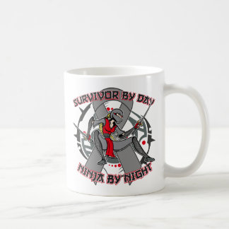 Brain Cancer Survivor By Day Ninja By Night Coffee Mugs