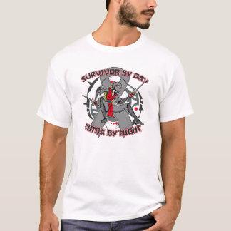 Brain Cancer Survivor By Day Ninja By Night T-Shirt