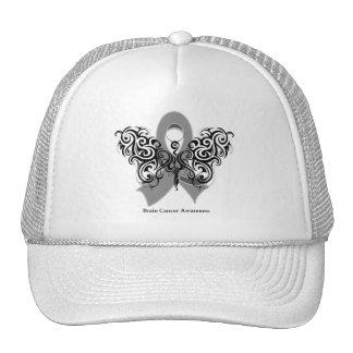 Brain Cancer Tribal Butterfly Ribbon Trucker Hats