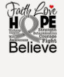Brain Cancer Typographic Faith Love Hope Tees