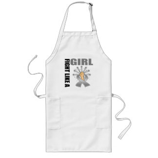 Brain Cancer Victory Fight Like A Girl Long Apron