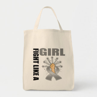 Brain Cancer Victory Fight Like A Girl Tote Bag