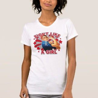 Brain Cancer Vintage Rosie Fight Like A Girl Tee Shirt