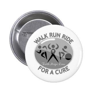Brain Cancer Walk Run Ride For A Cure Pinback Button