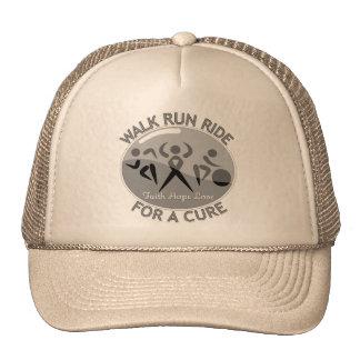 Brain Cancer Walk Run Ride For A Cure Mesh Hat