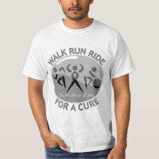 Brain Cancer Walk Run Ride For A Cure T-Shirt